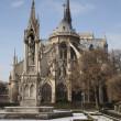 Notre Dame in Paris in Winter — Stock Photo