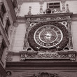 Stock Photo: Medieval Clock in Rouen