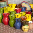 Stock Photo: Colorful Souvenir Jugs