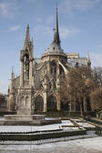Notre Dame in Paris in Winter — Stock Photo