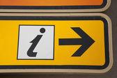 Information Sign — Foto de Stock