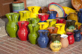 Colorful Souvenir Jugs — Stock Photo