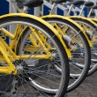 Stock Photo: Yellow Bikes