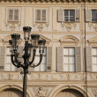 St Carlo Square Facade in Turin — Stock Photo