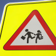 Stock Photo: Yellow School Safety Sign