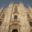 Duomo Cathedral Church in Milan, Italy — Stok fotoğraf