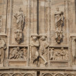 Facade, Duomo Cathedral Church in Milan — Lizenzfreies Foto