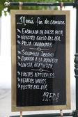 Spanish Menu Sign — Stock Photo