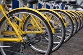Yellow Bikes — Stock Photo