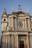 St Carlo Church and Bell Tower in Turin — Stock Photo