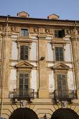 Placu repubblica w turynie we włoszech — Zdjęcie stockowe