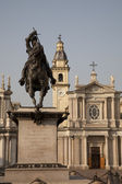 St Carlo Square and Church in Turin — Stock Photo