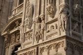 Facade of Duomo Cathedral Church in Milan — Stock Photo