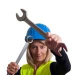 Frau mit Werkzeug — Stock Photo #4127083