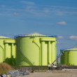 Green silos — Stock Photo #3951668