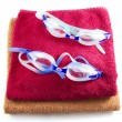 Stock Photo: Goggles on towel