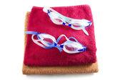 Brýle na ručník — Stock fotografie
