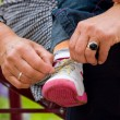 Tying shoe — Stock Photo #4139965