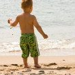 Playing at the beach — Stock Photo