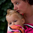 Woman is holding her son — Stock Photo #4140040