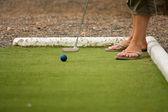 Playing golf — Fotografia Stock