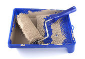 Used paint roller — Stock Photo