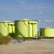 Construction zone with silos — Stock Photo