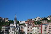 Landscape of buildings in Lyon, France. — Stock Photo