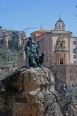 El Pastor monument with the Saint Paul Convent in Cuenca — Stock Photo