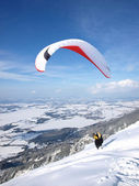 Paraglider starting — Stock Photo
