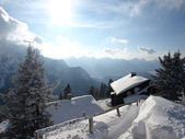 Shed in the alps in germany — Stock Photo