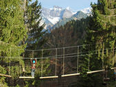 Climbing park in the alps in germany — Stock Photo