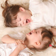 Two girls laughing — Stock Photo