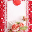 Valentine's card with copy space — Photo