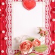 Valentine's card with copy space — Stock Photo #3923506