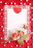 Valentine's card with copy space — Foto de Stock