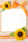Blank vintage paper with flowers design — Stock Photo