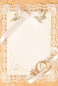 Wedding invitation card — Stock Photo