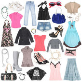 Different female clothes, shoes and accessories. #2 — Stock Photo