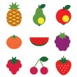 Stock Vector: Fruits set.
