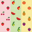 Fruit pattern set. — Stock Vector