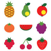 Fruits set. — Stock Vector