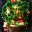 Stock Photo: Christmas tree with toys