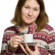 Stock Photo: Tea-drinking