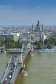 Budapest Chain Bridge — Stock Photo