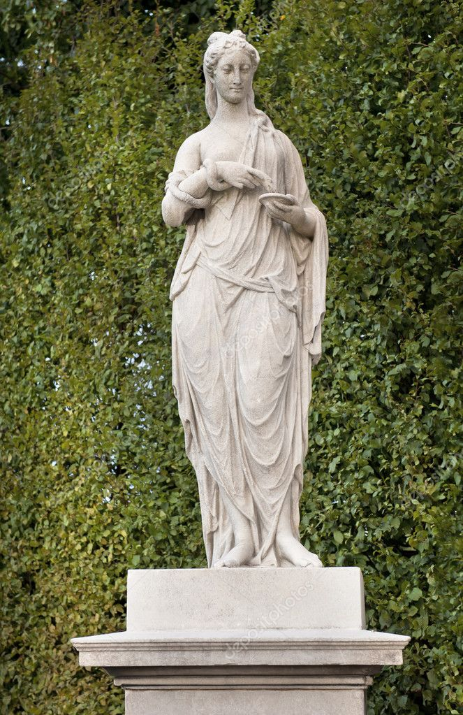 The Statue of Hygenia on the Great Parterre, Schonbrunn Palace  Stock Photo #5054262