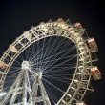 Vienna Ferris wheel at night — Stock Photo #5142145