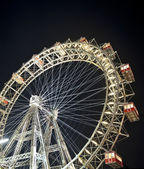 Vienna Ferris wheel at night — Stock Photo