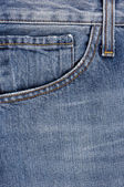 Details from blue jeans — Stock Photo
