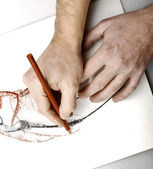 Drawning hands — Stock Photo